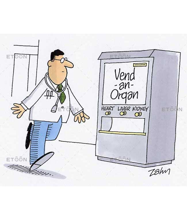 Vend an Organ: eToon cartoon for newsletters, presentations, websites, books and more