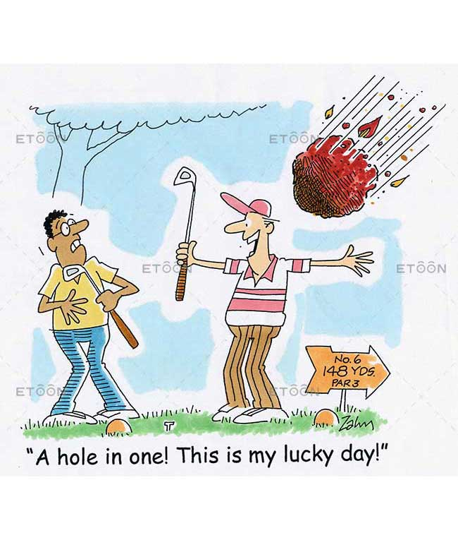 A hole in one! This is my lucky day!: eToon cartoon for newsletters, presentations, websites, books and more