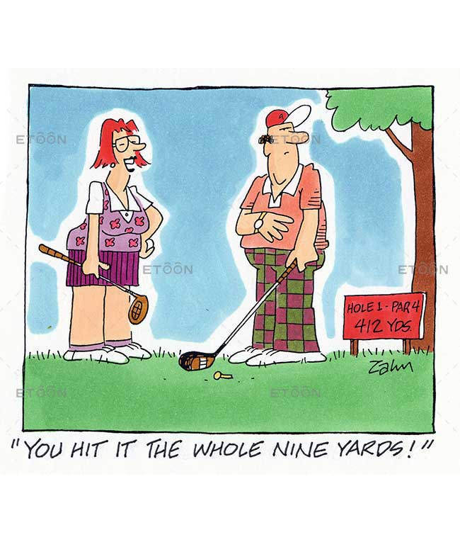 You hit it the whole nine yards!: eToon cartoon for newsletters, presentations, websites, books and more