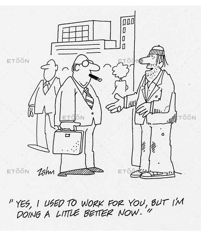Yes, I used to work for you, but Im doing a little better now!: eToon cartoon for newsletters, presentations, websites, books and more