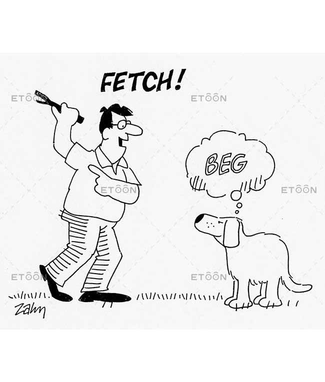 Fetch!   Beg: eToon cartoon for newsletters, presentations, websites, books and more