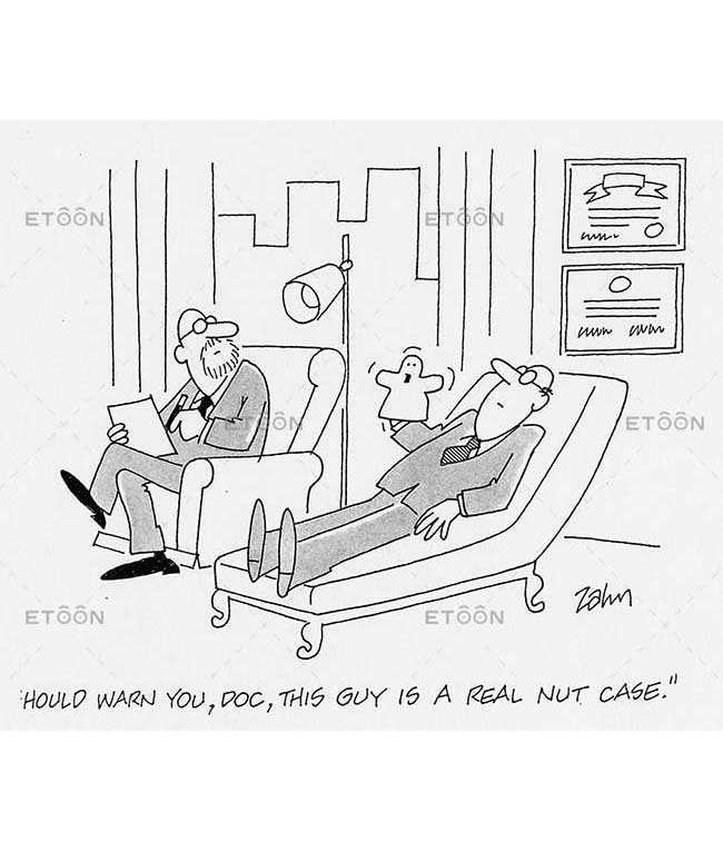 Should warn you, Doc, this guy is a real nut case.: eToon cartoon for newsletters, presentations, websites, books and more
