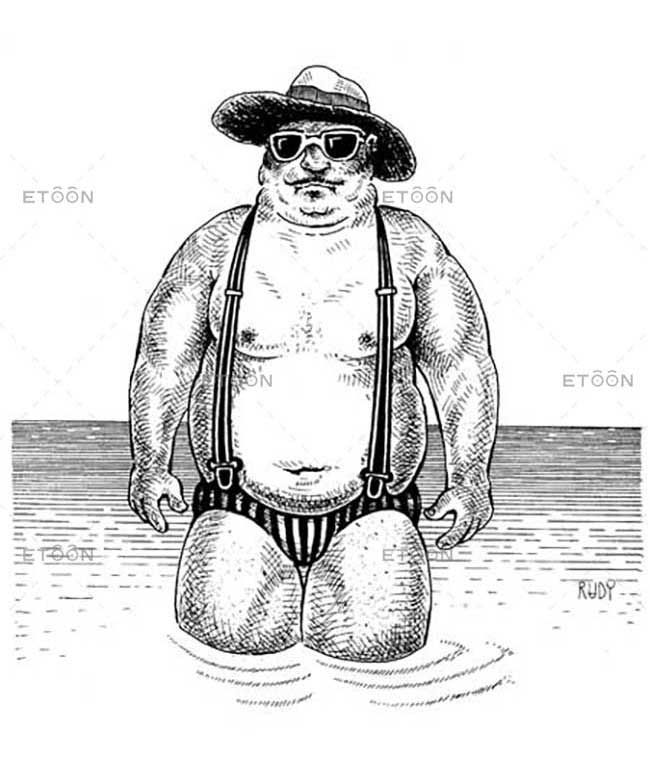 A man at the beach...: eToon cartoon for newsletters, presentations, websites, books and more