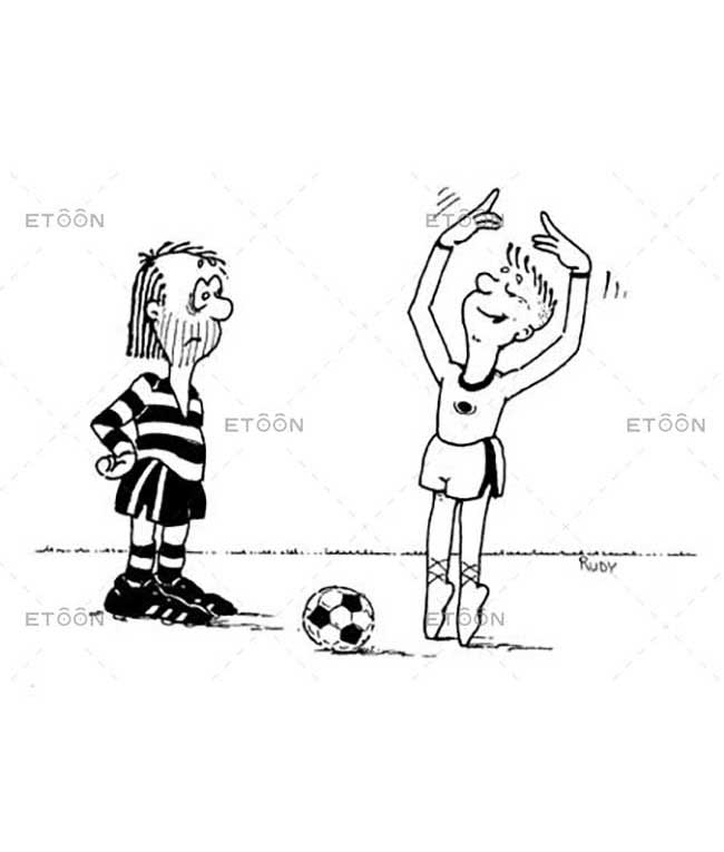 Soccer balet: eToon cartoon for newsletters, presentations, websites, books and more