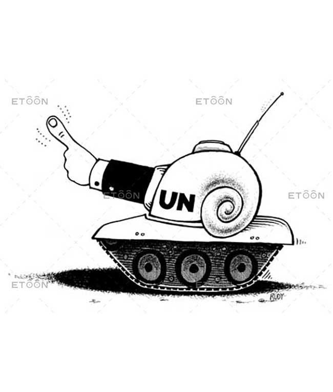 UN tank: eToon cartoon for newsletters, presentations, websites, books and more