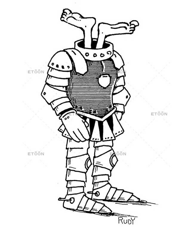 A knight in shining armor: eToon cartoon for newsletters, presentations, websites, books and more