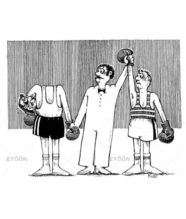 The boxing champion: eToon cartoon for newsletters, presentations, websites, books and more