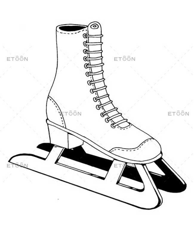 Skating shoes: eToon cartoon for newsletters, presentations, websites, books and more