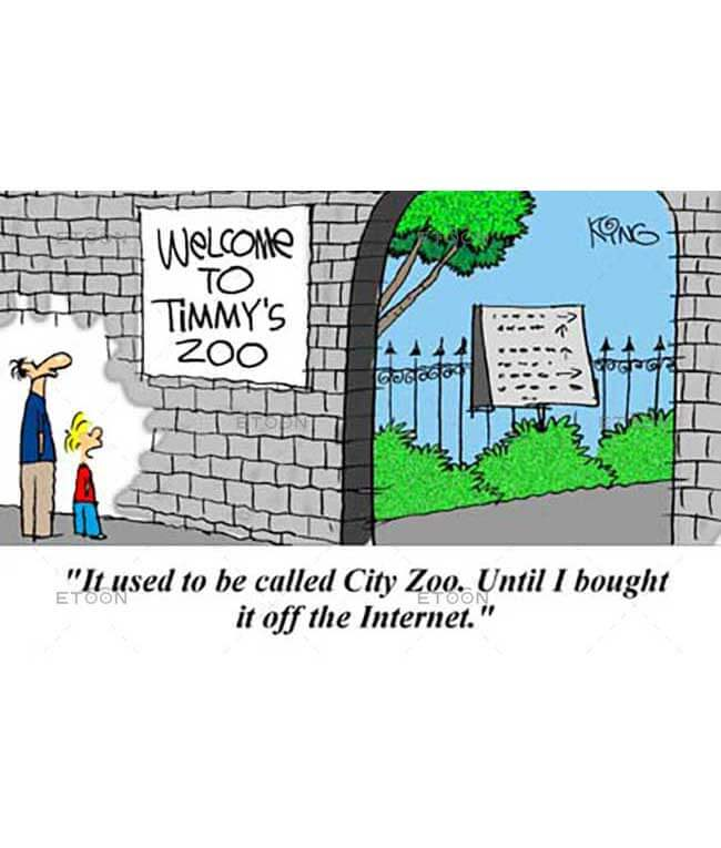 It used to be called City Zoo...: eToon cartoon for newsletters, presentations, websites, books and more