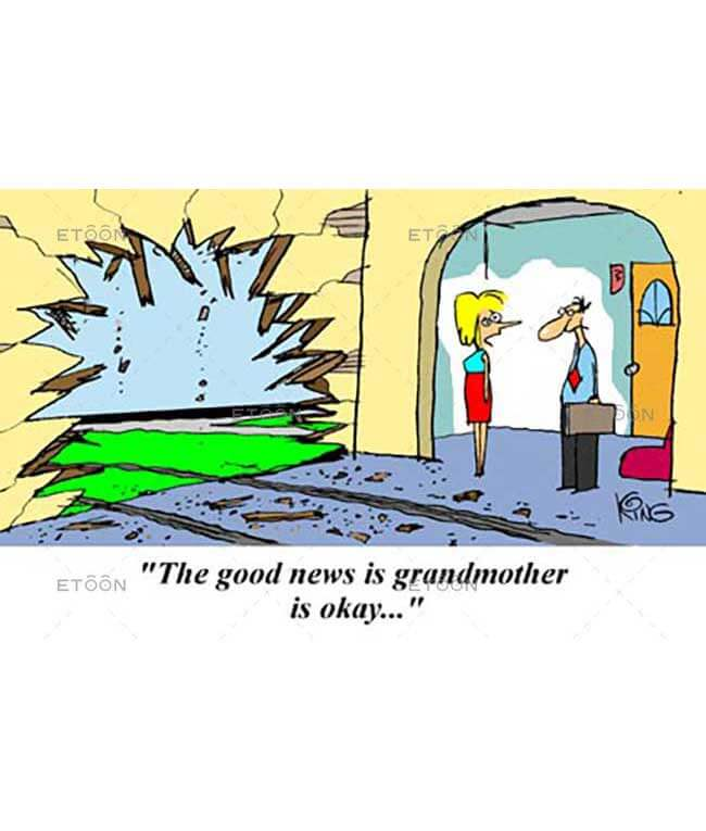 The good news is Grandmother is okay: eToon cartoon for newsletters, presentations, websites, books and more