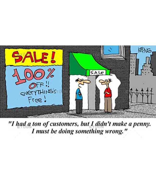I had a ton of customers...: eToon cartoon for newsletters, presentations, websites, books and more