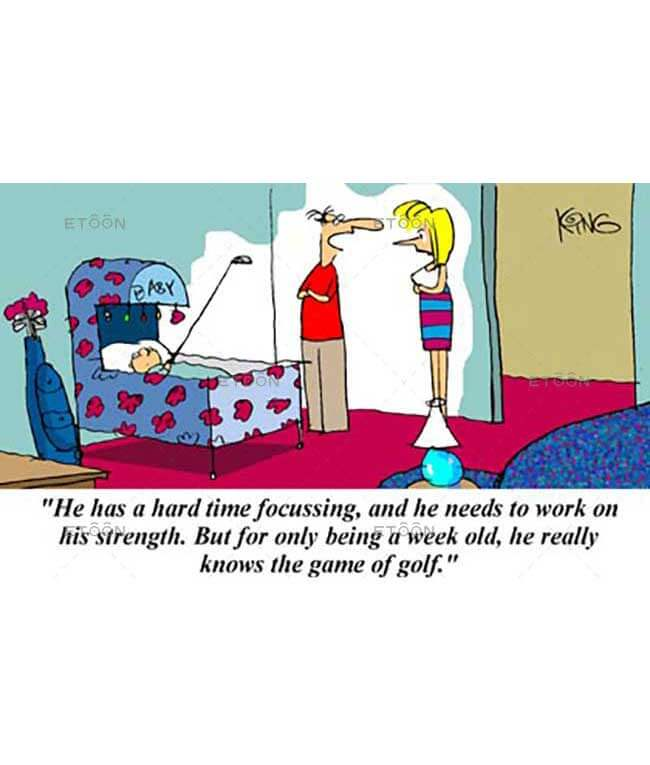 He has a hard time focusing...: eToon cartoon for newsletters, presentations, websites, books and more