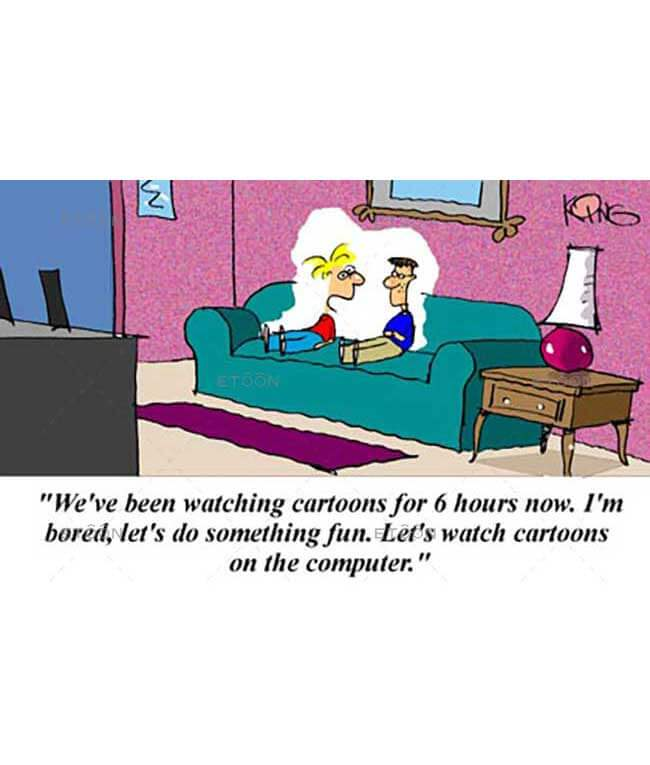 Weve been watching cartoons...: eToon cartoon for newsletters, presentations, websites, books and more
