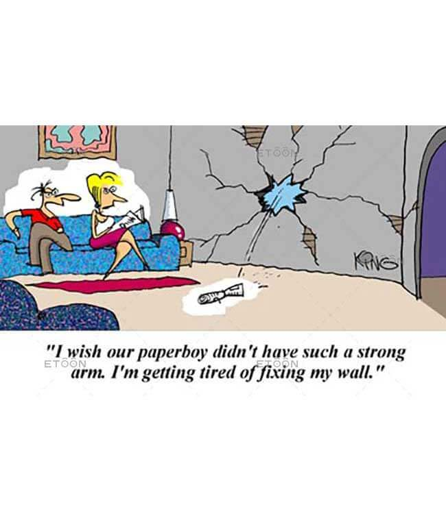 I wish our paperboy didnt have such a strong arm...: eToon cartoon for newsletters, presentations, websites, books and more