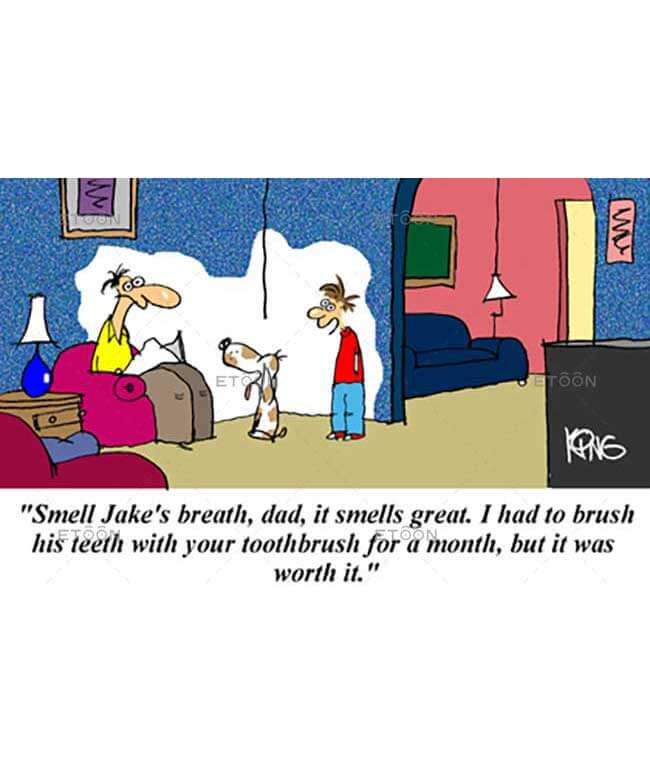 Smell Jakes breath, dad...: eToon cartoon for newsletters, presentations, websites, books and more