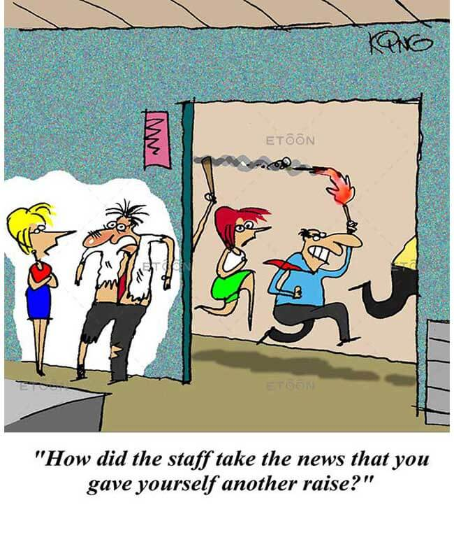 How did the staff take the news...: eToon cartoon for newsletters, presentations, websites, books and more