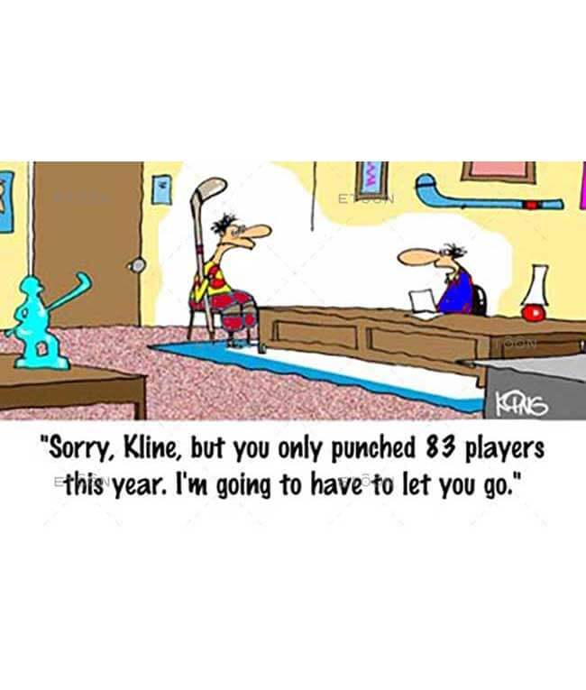 Sorry,  Kline, but you only punched 83 players...: eToon cartoon for newsletters, presentations, websites, books and more