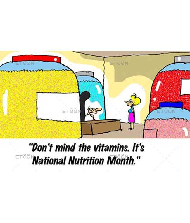 Dont mind the vitamins...: eToon cartoon for newsletters, presentations, websites, books and more