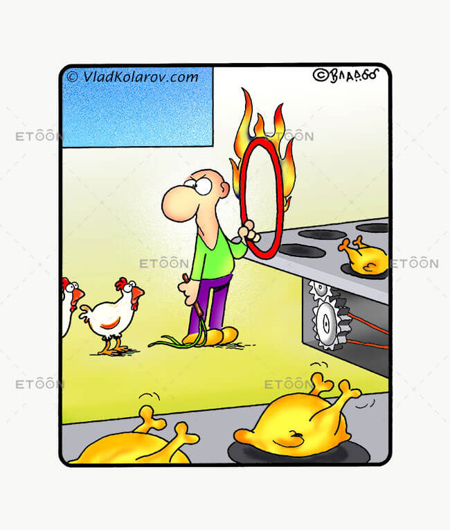 Chicken Factory: eToon cartoon for newsletters, presentations, websites, books and more