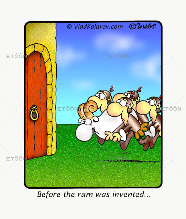 Before the ram was invented!: eToon cartoon for newsletters, presentations, websites, books and more