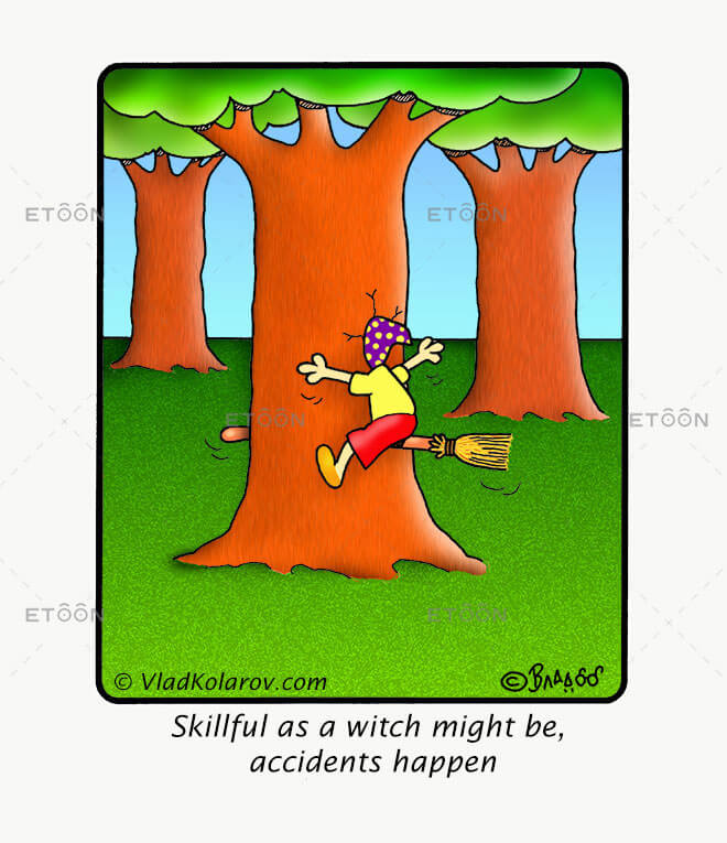 Skillful as a witch might be: eToon cartoon for newsletters, presentations, websites, books and more