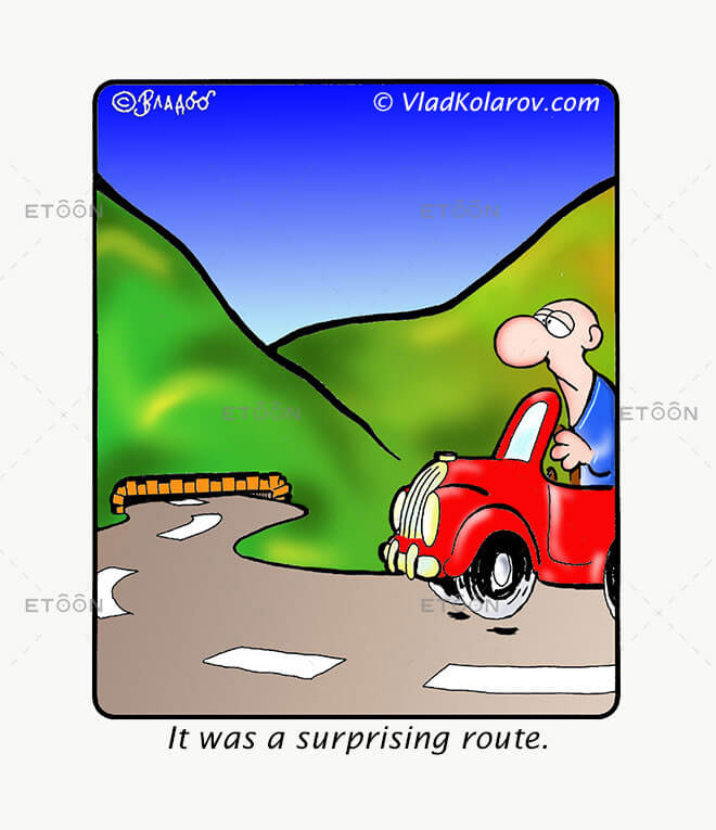It was a surprising route...: eToon cartoon for newsletters, presentations, websites, books and more