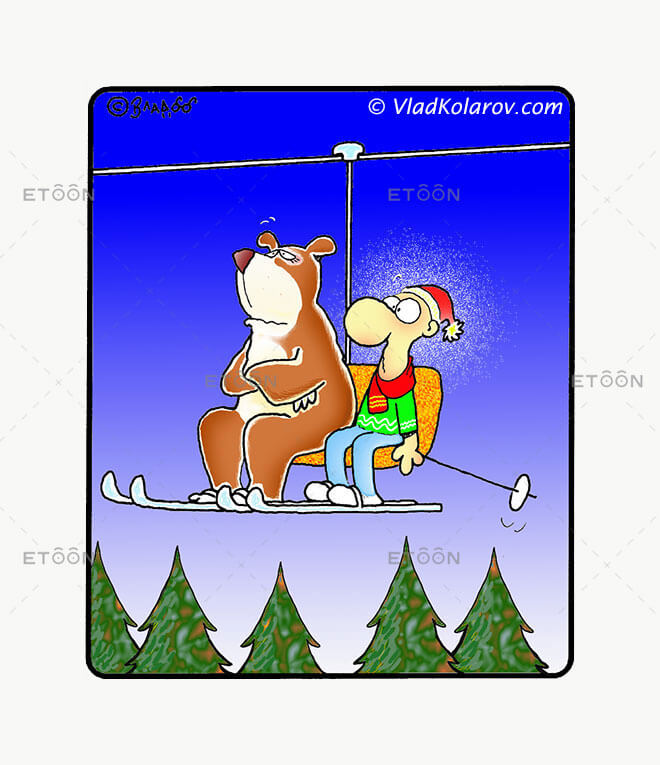 The dangers of skiing...: eToon cartoon for newsletters, presentations, websites, books and more