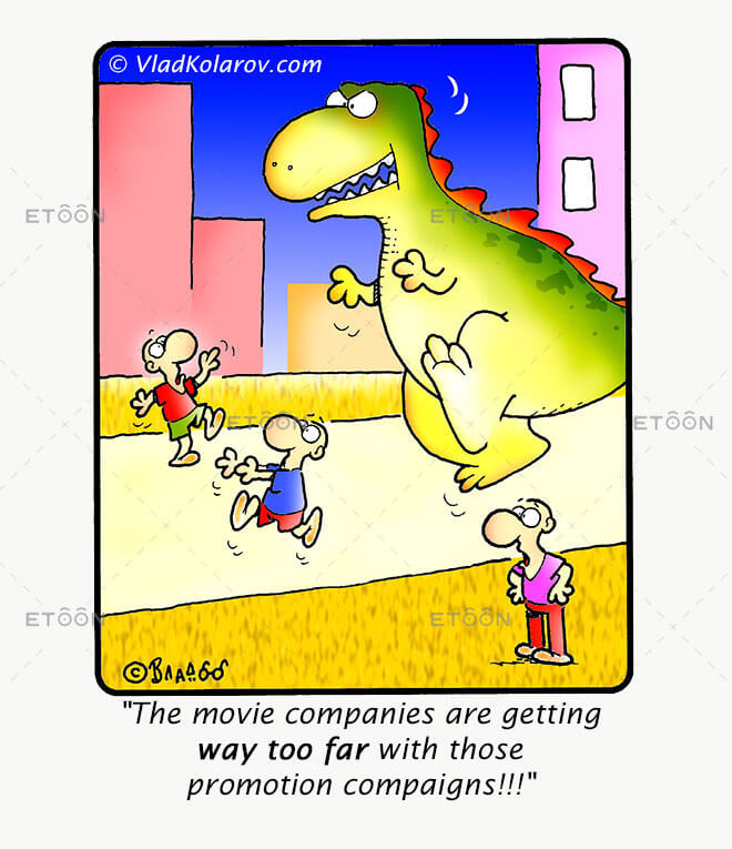 The movie companies are getting way too far...: eToon cartoon for newsletters, presentations, websites, books and more