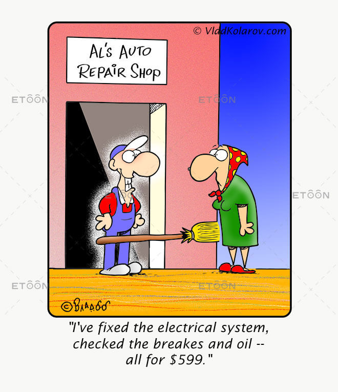 Ive fixed the electrical system: eToon cartoon for newsletters, presentations, websites, books and more