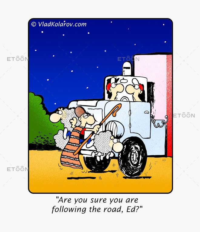 Are you sure you are following the road: eToon cartoon for newsletters, presentations, websites, books and more