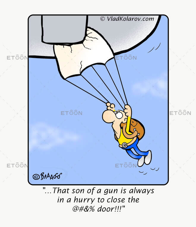 ...That son of a gun is always in a hurry...: eToon cartoon for newsletters, presentations, websites, books and more