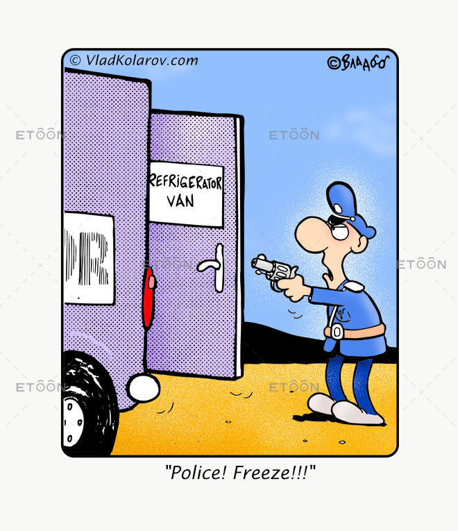Police! Freeze!!!: eToon cartoon for newsletters, presentations, websites, books and more