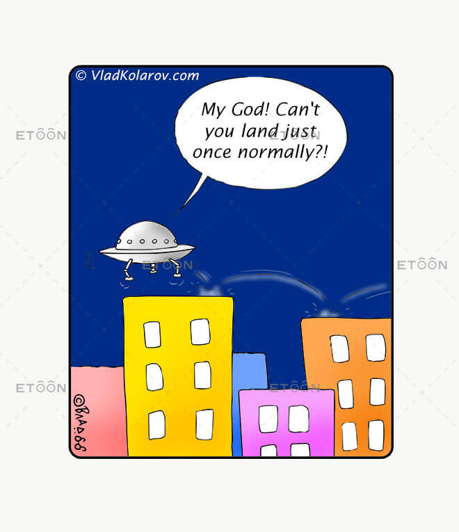 My God! Cant you land just once normally?!: eToon cartoon for newsletters, presentations, websites, books and more