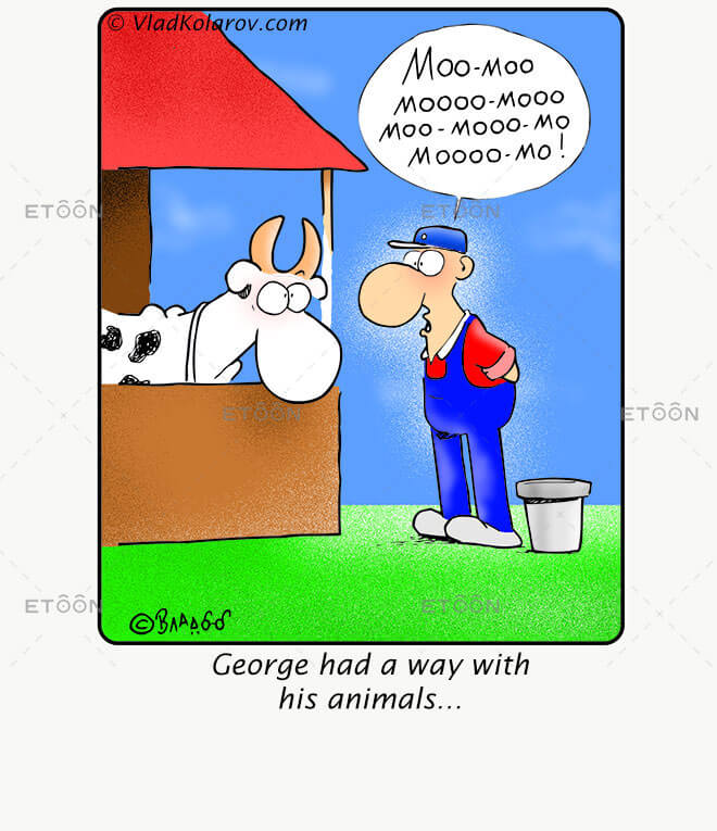George had a way with his animals...: eToon cartoon for newsletters, presentations, websites, books and more