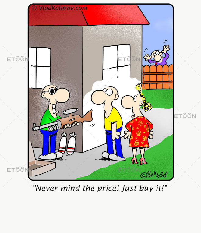 Never mind the price! Just buy it!: eToon cartoon for newsletters, presentations, websites, books and more