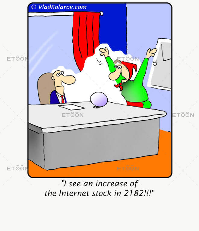 I see an increase of the Internet stock...: eToon cartoon for newsletters, presentations, websites, books and more