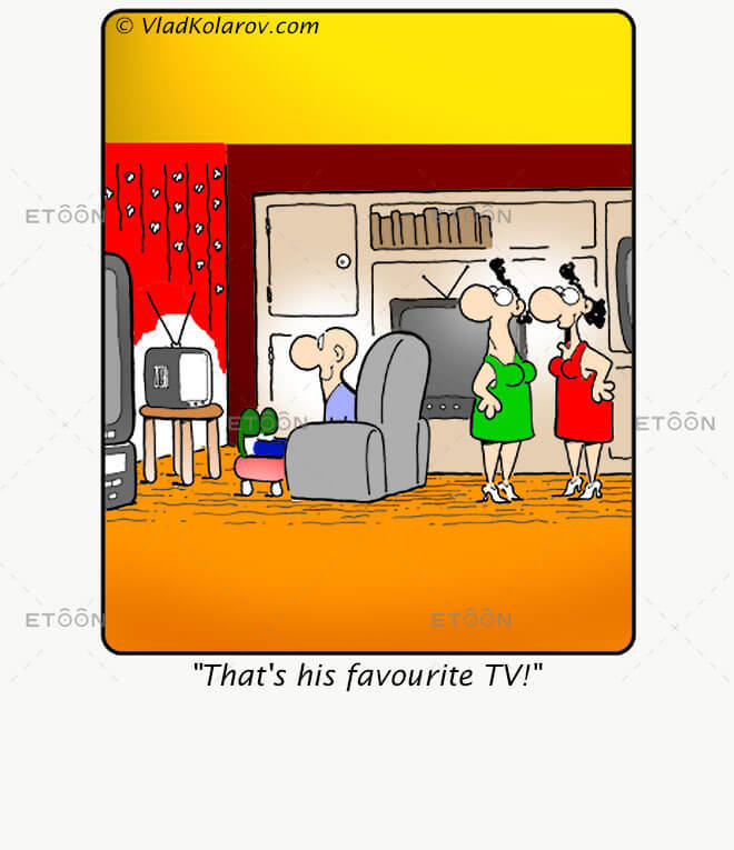 Thats his favourite TV!: eToon cartoon for newsletters, presentations, websites, books and more