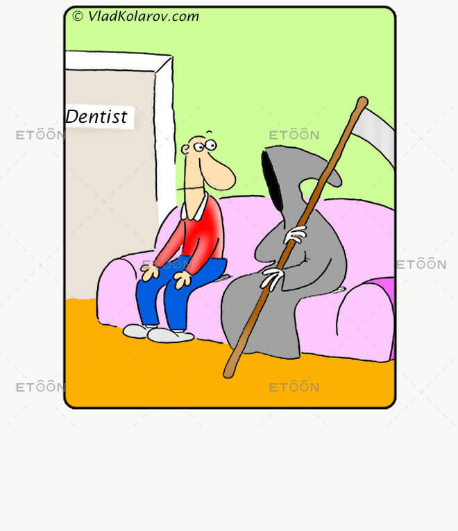 At the dentist: eToon cartoon for newsletters, presentations, websites, books and more
