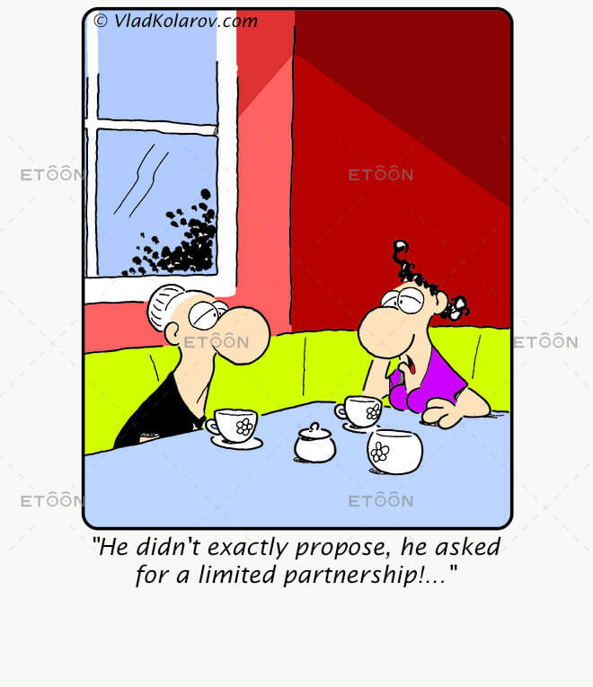 He didnt exactly propose: eToon cartoon for newsletters, presentations, websites, books and more