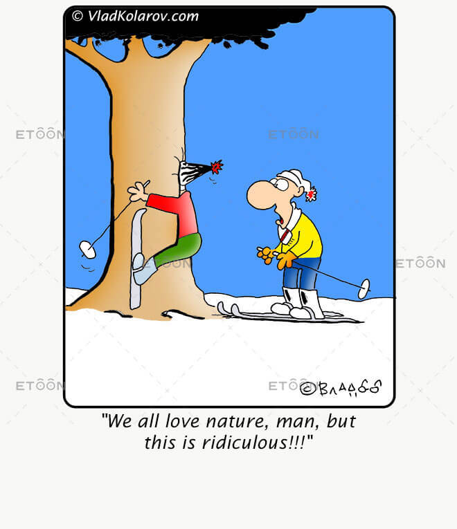 We all love nature: eToon cartoon for newsletters, presentations, websites, books and more