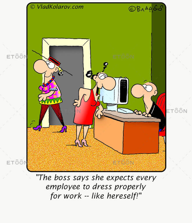 The boss says she expects every employee..: eToon cartoon for newsletters, presentations, websites, books and more