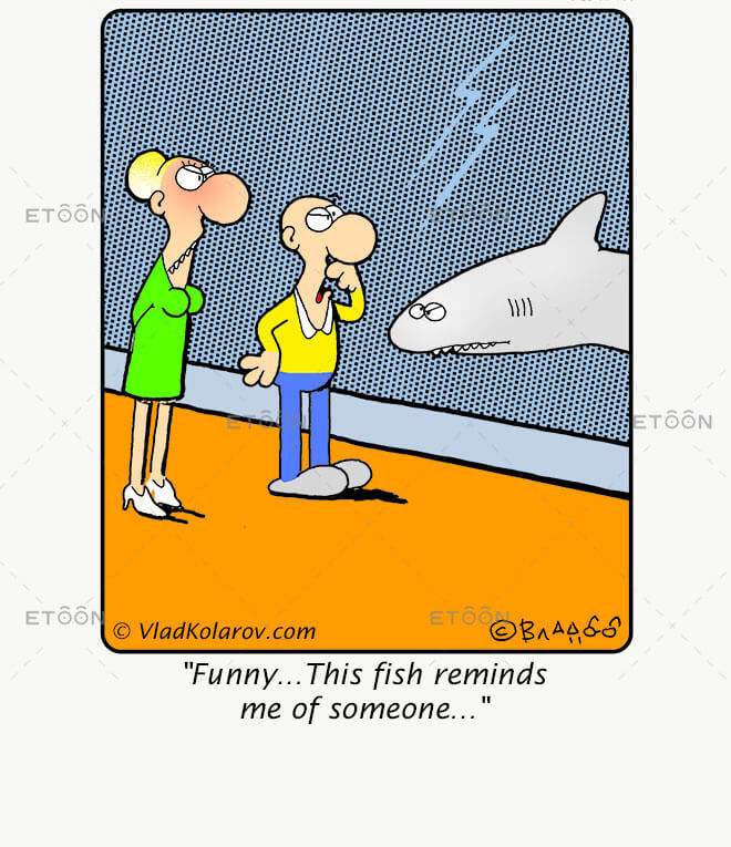 Funny...This fish reminds me of someone...: eToon cartoon for newsletters, presentations, websites, books and more