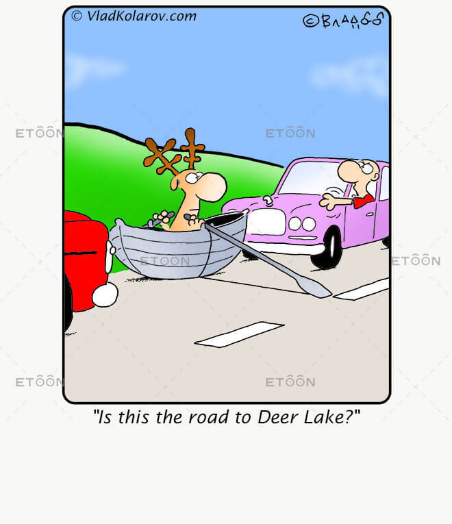 Is this the road to Deer Lake?: eToon cartoon for newsletters, presentations, websites, books and more