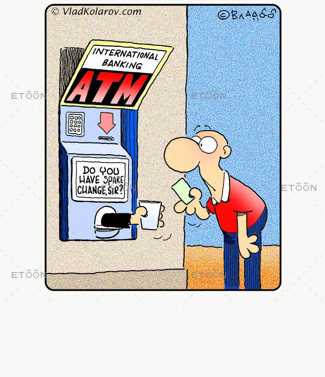 ATM: eToon cartoon for newsletters, presentations, websites, books and more