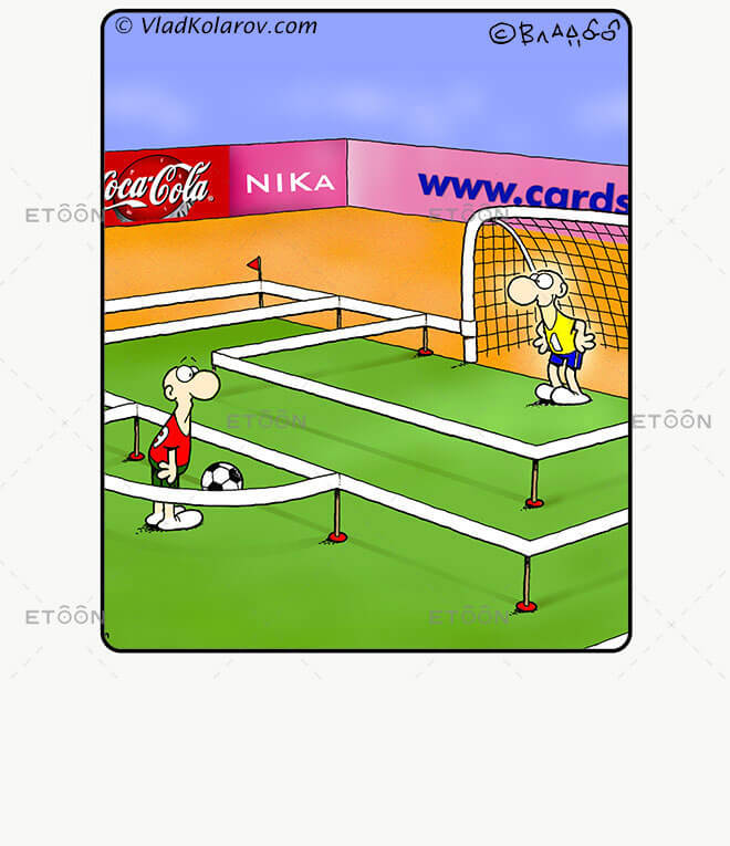 Soccer2: eToon cartoon for newsletters, presentations, websites, books and more