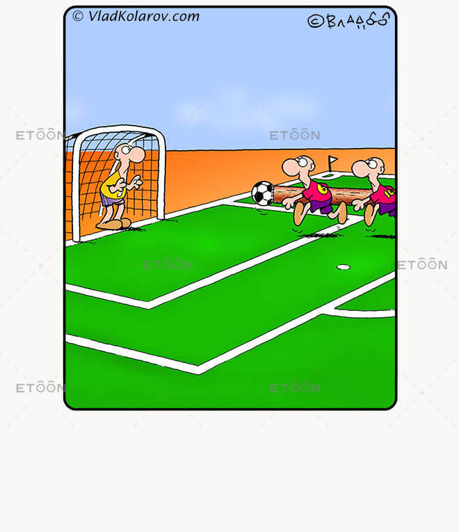 Soccer3: eToon cartoon for newsletters, presentations, websites, books and more