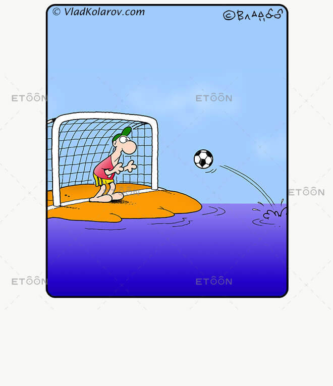 Soccer5: eToon cartoon for newsletters, presentations, websites, books and more