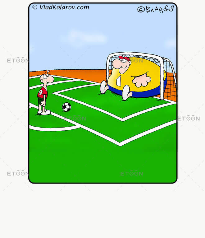 Soccer6: eToon cartoon for newsletters, presentations, websites, books and more