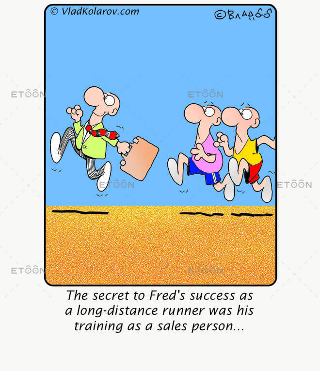 The secret to Freds success as a...: eToon cartoon for newsletters, presentations, websites, books and more
