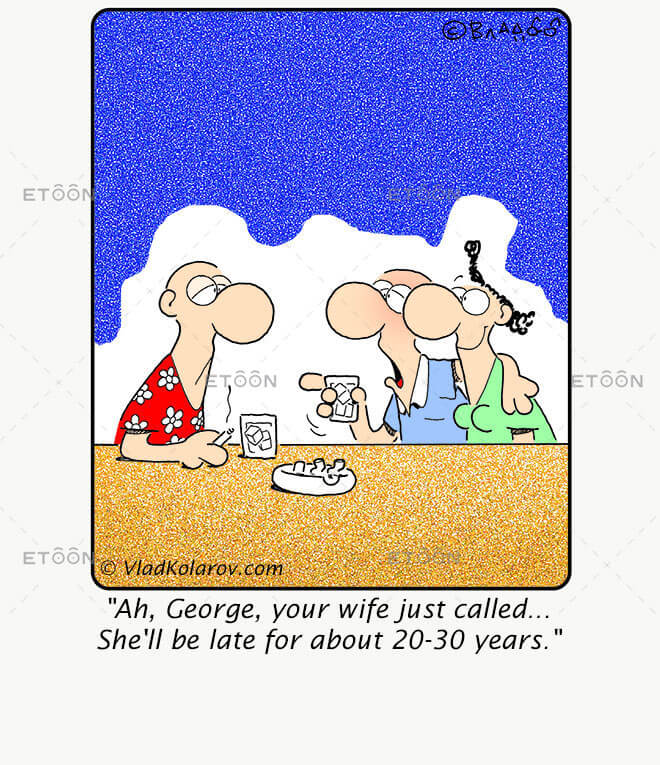 Ah, George, your wife just called...: eToon cartoon for newsletters, presentations, websites, books and more
